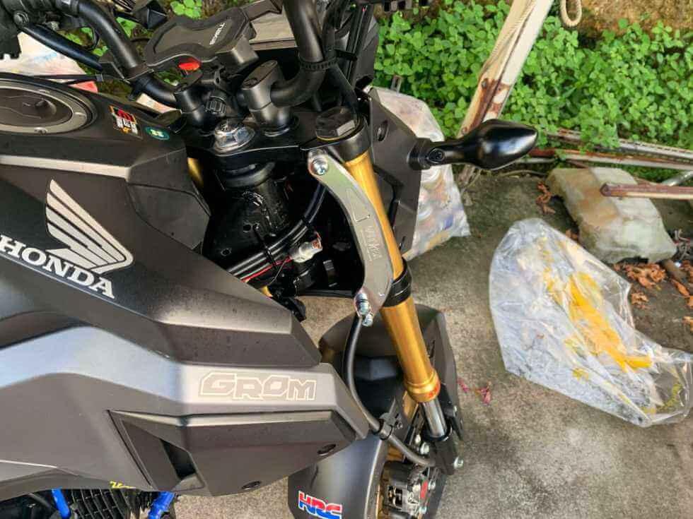 【簡単取付】高速コーナーで安定性アップ!OUTEXスタビライザーを装着!