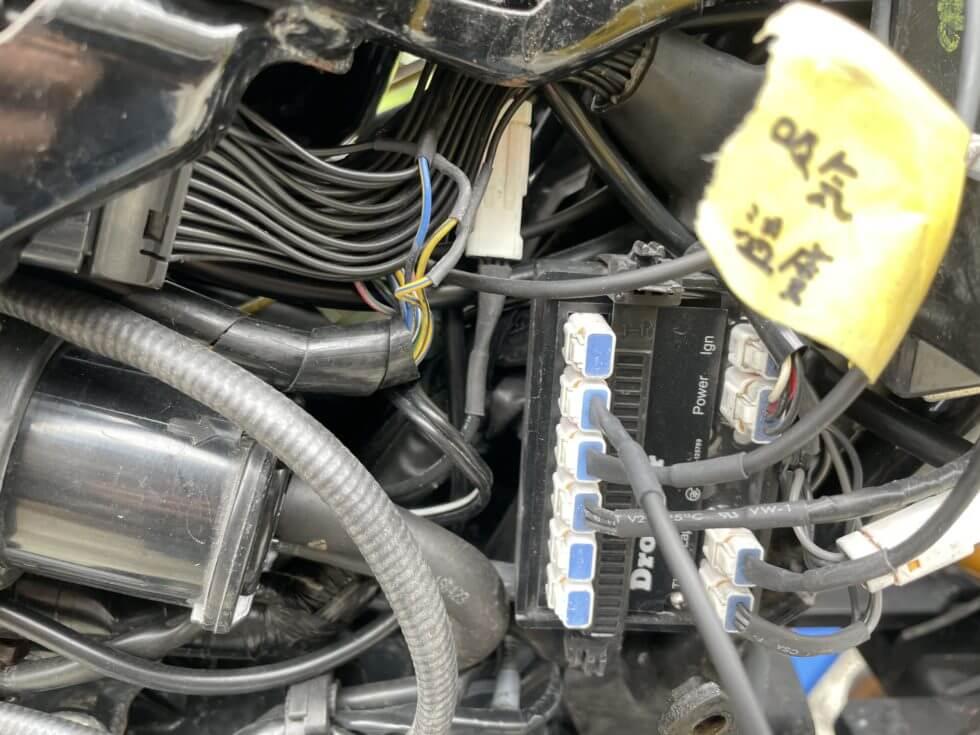drogger油温センサー(ドロガーのT2に接続後)