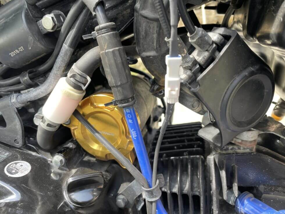 drogger油温センサー(コネクタを接続)