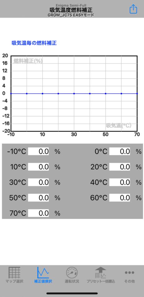 drogger吸気温度センサー(Enigma設定画面)